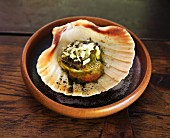 Indian spiced scallop