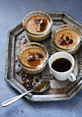 Coffee panna cotta