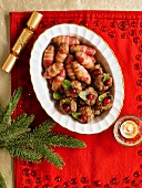 Plumpudding Stuffing Balls And Pigs In Blankets