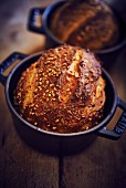 Bread baked in cocotte pots