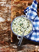 Fresh cheese with chives