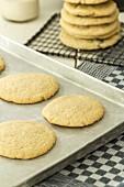 American Cookies auf Backblech