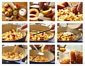 Nektarinen-Marmelade mit Amaretto, Vanille und Ingwer zubereiten