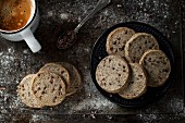 Delicious sable cookies with buckwheat flour, enriched with cocoa nibs