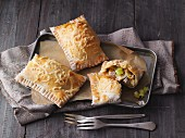 Ham and leek pasties
