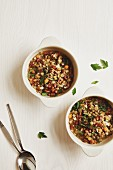 Classic lentils with smoked bacon