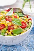 A Close Up of a Bowl of Vegan Succotash