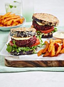 Low-Carb Beef and Beetroot Eggplant Burgers