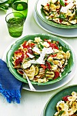 Chargrilled Zucchini and Chicken Pasta