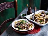 Vegeterian mushroom pasta