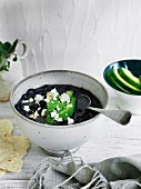 Black turtle bean soup