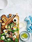 Grilled Chicken Bacon and Poached Egg Salad