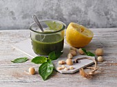 A macadamia and lime topping for soups