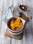 Buckwheat and chufa porridge with linseeds and orange