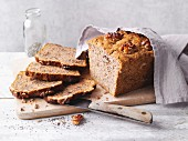 Banana and walnut bread with chia seeds