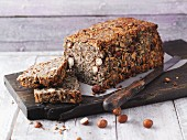 Hazelnut chia bread with linseeds