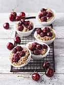 Cherry and cinnamon muffins with chia seeds
