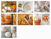 Vollkorn Pizzette mit Paprika und Ziegenkäse zubereiten