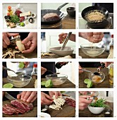 Tataki vom Rinderfilet mit Mirin und Sojasauce zubereiten
