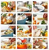 Hühnersuppe nach Grossmutters Art mit Gemüse zubereiten