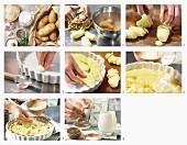 Kartoffegratin zubereiten