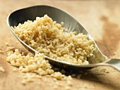 Couscous on a spoon