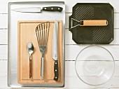 Kitchen utensils for making bruschetta