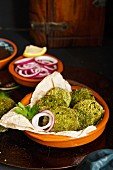 Green Goddess Kebab, also called Hara Bhara Kebab, an appetiser from India