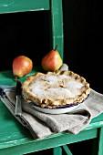Freshly baked pear pie