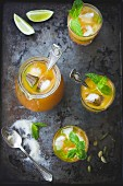 Moroccan Mojitos mint ice tea combination