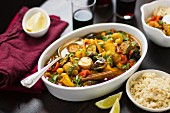 Summer vegetable tagine with cous cous