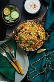 Gemüse-Biryani (Reisgericht, Asien)