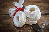 Vegan donuts with icing sugar