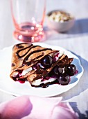 Crepes with cherries