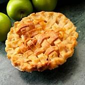 Small Lattice top apple pie with Granny Smith apples
