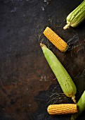 Corn on a metal background