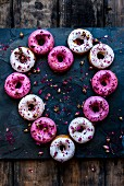 Doughnuts in a heart shape