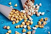 Sweet popcorn in paper cones