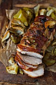 Roasted Pork Sliced with Apple and Fennel