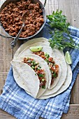 Mexican ground beef tacos