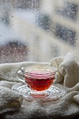 Tea in a rainy window