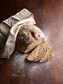 Stone baked bread, sliced