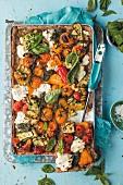 Wholemeal vegetable tart