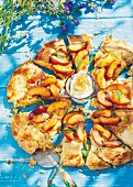 A summer nectarine tart