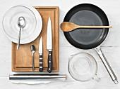 Kitchen utensils for making a lamb dish