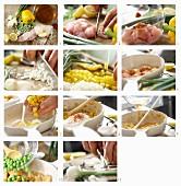 Paella mit Hähnchen zubereiten