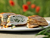Chicken breast stuffed with ricotta and tarragon