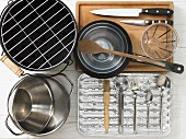 Kitchen utensils for preparing grilled vegetables