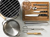 Kitchen utensils for grilling fruit