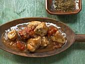 Indisches Hähnchencurry mit scharf-fruchtiger Sauce